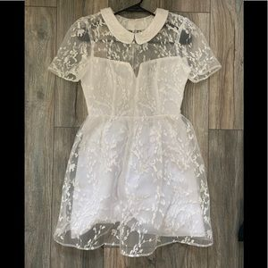 BCBGeneration Cute White Lace Dress
